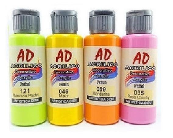 Set Acrílicos Ad 60 Ml X 36 Unidades Pintura Acrílica