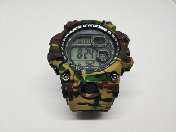 Relógio Masculino Digital Esportivo Militar Camuflado