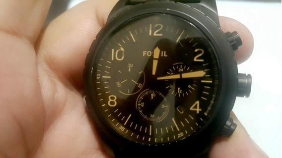 Relógio Fossil Preto Fosco Ch3070/4pn Excelente Estado