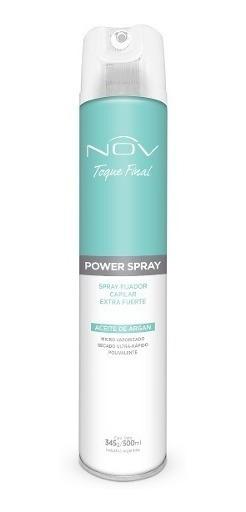 Spray Fijador Nov Extra Fuerte Con Aceite De Argan