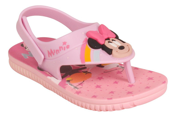 Chinelo Infantil Feminino Grendene Disney Cute Fun 22137