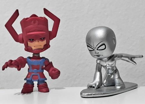 Lote Galactus Silver Surfer Marvel Funko Misterymini Rosario