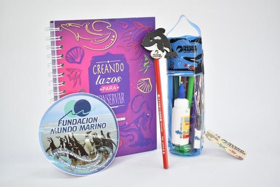 Cuaderno A5- Tubo Escolar- Lapiz- Calco Fundación M. Marino
