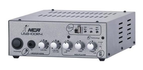 Amplificador Nca Ab100 R4 Fm/usb 100w Rms 4 Ohms S/juros