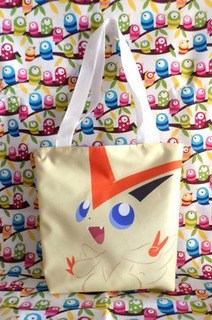 Mini Tote Bag Cartera De Anime Pokemon: Victini