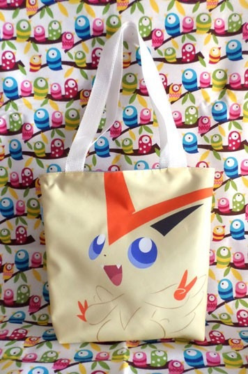 Mini Tote Bag Cartera De Anime Pokemon: Victini