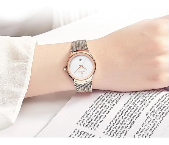 Relógio Feminino Dourado Naviforce 5004