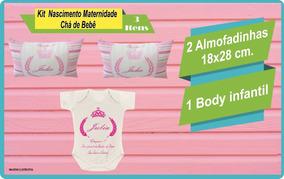 Kit 01 Body Infantil E 02 Almofadinhas Travesseiro