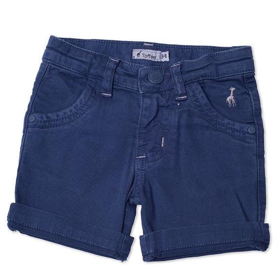 Bermuda Jeans Infantil Masculina Azul Marinho Tamanho 02