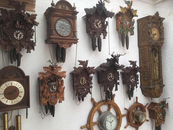 Relojes Cucus De Cuerda Alemanes Madera Desde 3500