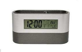 Porta-canetas Com Relógio Digital, Calendário E Temperatura