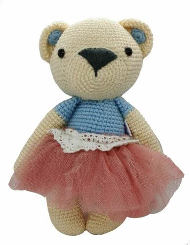 Imagen 1 de 2 de Amigurumi Osita Bailarina Hecha A Mano En Crochet