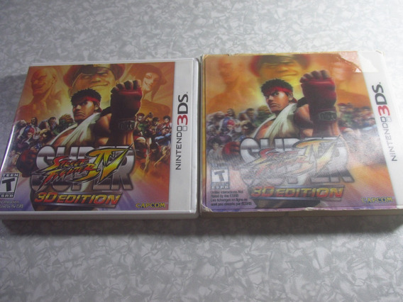 3ds - Super Street Fighter C/ Box Holográfico - Original