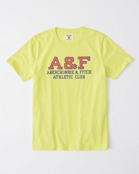 Abercrombie & Fitch Original Playera Neon Logo Bordado
