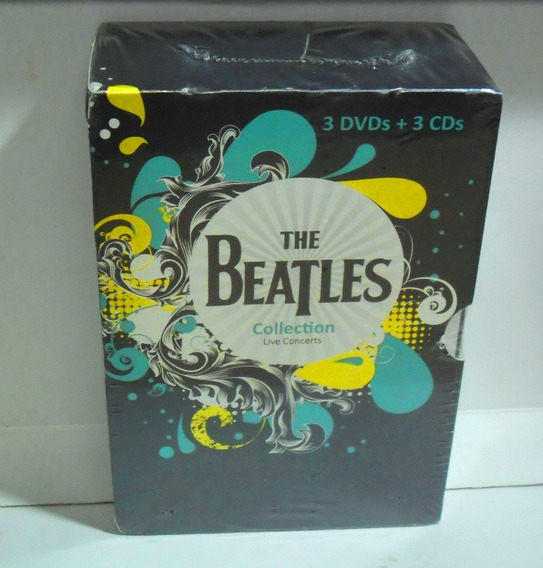 The Beatles Collection Live Concert Box 3 Dvds + 3 Cds Novo