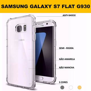 Capa Crystal Shell Samsung Galaxy S7 Flat G930 Anti Impacto