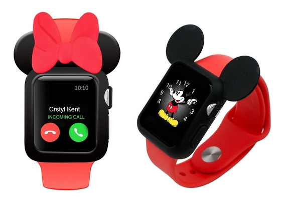 Combo Protectores Mimi Minnie Mickey For Watch 38-42mm 1,2,3