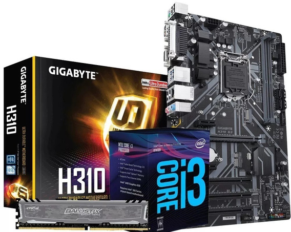 Combo Actualización Intel Core I3 8100 H310 Mother 8gb Ddr4