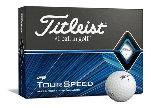 Imagen 1 de 9 de Pelotas Golf Titleist Tour Speed Caja X12 | The Golfer Shop