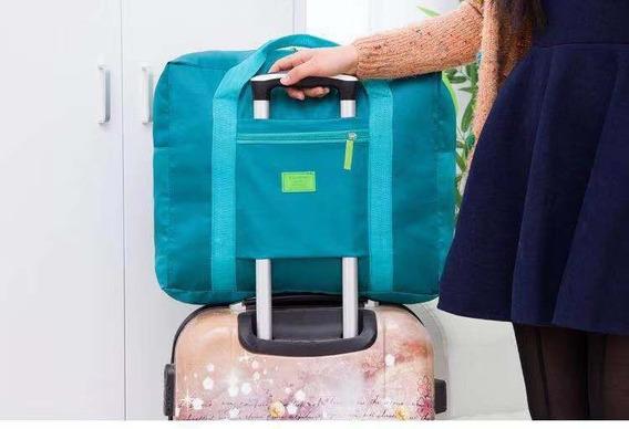 Bolsa/ Sacola Dobrável De Viagem Travel Bag Prende Na Mala