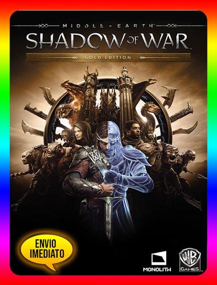 Middle Earth Shadow Of War Gold - Pc Steam Key (envio Já)