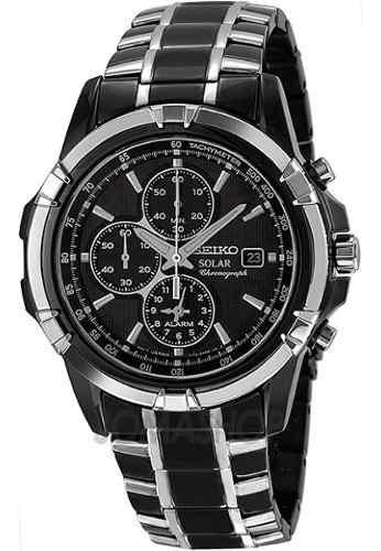 Relógio Seiko Ssc143 Solar Ssc143 Black Cronógrafo Alarme