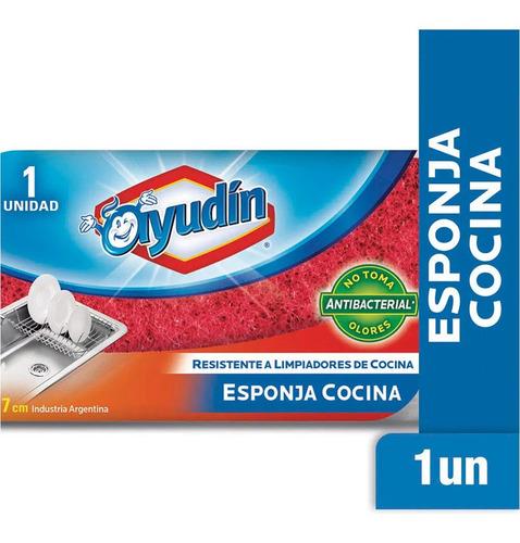 Esponja Ayudin Cocina Resistente Antibacterial 14x7cm X 1un
