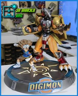 Stl Digimon Tai Y Wargreymon - Impresion 3d