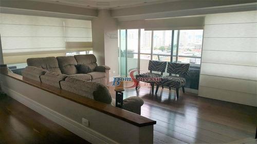 Apartamento Com 3 Dormitórios À Venda, 190 M² Por R$ 1.000.000,00 - Mooca - São Paulo/sp - Ap2446