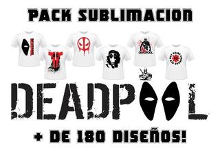 Pack Sublimación Vectores - Deadpool + De 180 Diseños!