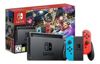 Nintendo Switch 32gb Mario Kart 8 Deluxe Rojo Neón, Azul Neó
