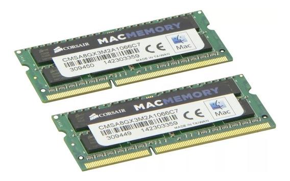Memoria 8gb 2x4 1066mhz Corsair Note Mac Dell Sony Asus Hp
