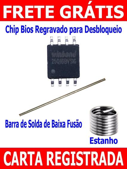 Chip Bios Regravado Desbloqueio Netbook Tablet Do Governo