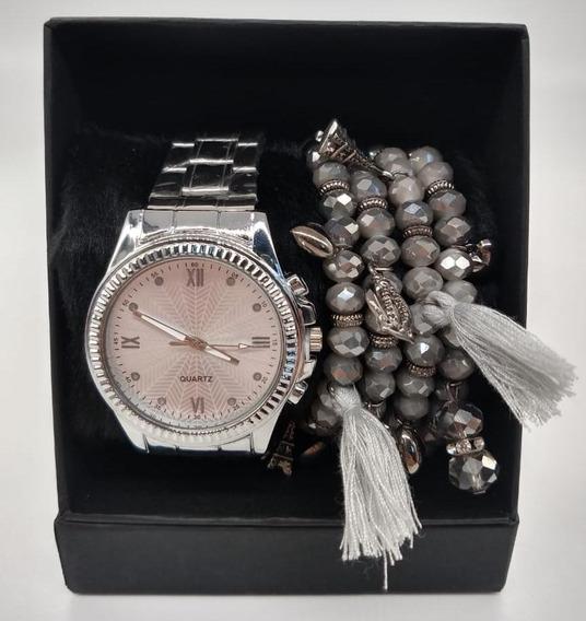 Kit Relógio Com Pulseiras