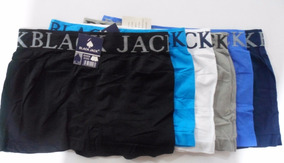 01- Kit Com 12 Cuecas Black Jack Lisa Atacado E Varejo