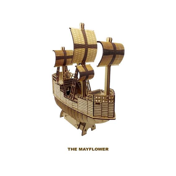 Rompecabezas 3d Bodegón De Las Manualidades The Mayflower