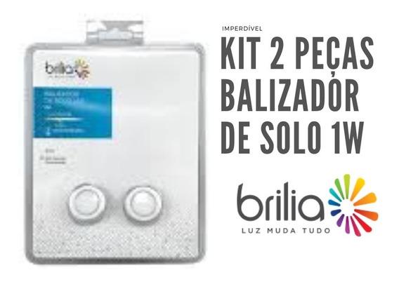 Kit Com 2 Balizador De Solo Led 1w Brilia 3000k