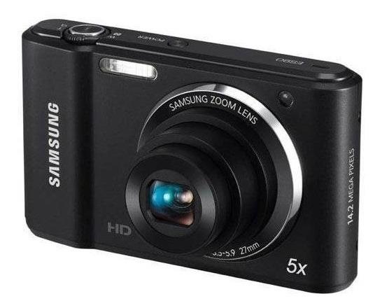 Âmera Digital Samsung St64 Preto 14.2mp 4gb Com Zoom Óptico