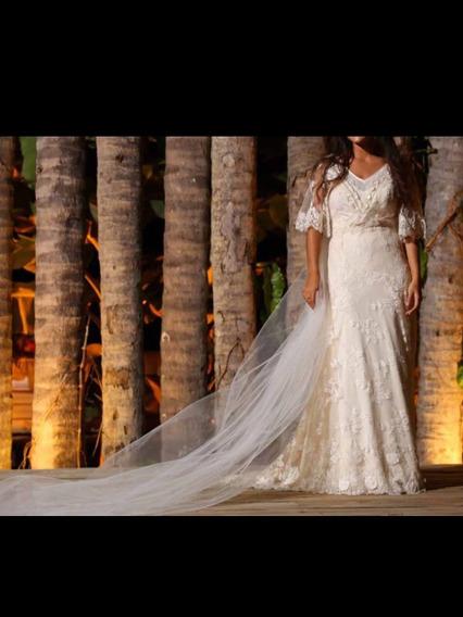 Vestido De Noiva Emannuelle Junqueira, Casamento Dia, Praia