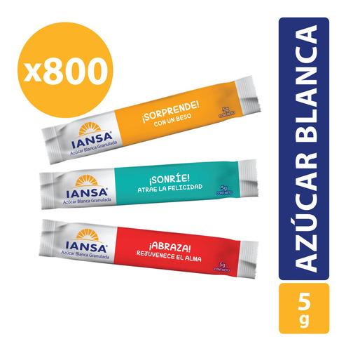 Azúcar Blanca Granulada Iansa Sticks Pack 800 Unidades