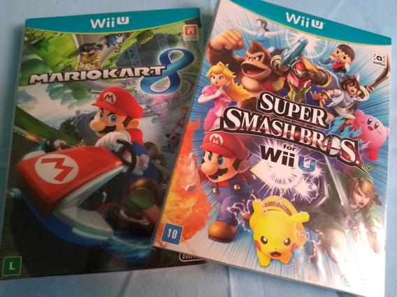 Super Smash Bros Wii U + Mario Kart 8 Perfeitos Frete Grátis