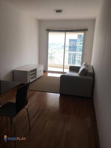 Apartamento No Brooklin, Ao Lado Da Berrini, 75m De Area Útil, 2 Dormitórios E 2 Vagas De Garagem - Ap3324