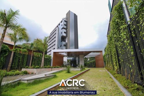 Acrc Imóveis - Sala Comercial Nova Em Prédio Comercial Para Locação No Bairro Garcia, Próxima Ao Terminal E Ao Hospital Santa Catarina - Sa00695 - 69422453