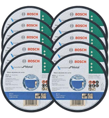 Kit Discos De Corte P/ Aço E Inox 4.1/2' X 7/8' Bosch