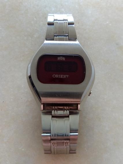 Relógio Orient Digital Led Máscara Negra Touchtron Dec. 70