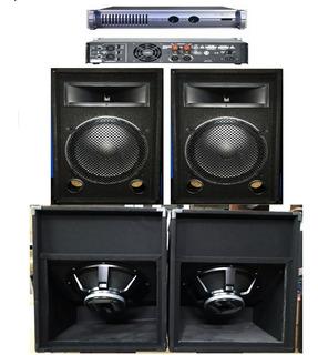 Combo Sonido Profesional 2400w Roller+ Potencia 1600w Apx800