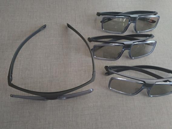 Kit 4 Óculos 3d Sony (sem Uso, Sem Avarias, Sem Riscos)
