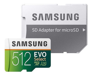 Cartão 512gb Samsung Microsdxc Select 4k 100mb/s Imp. Usa