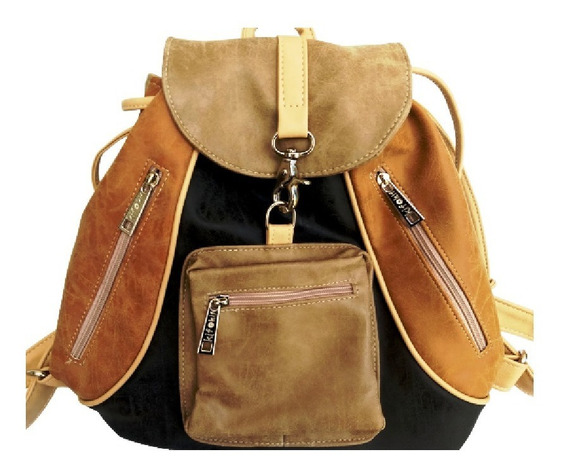 Mochilas Cuero Pu Kif Kif By Showroom Ibbags