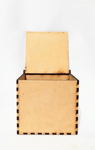 Imagen 1 de 7 de Caja Con Tapa 30x30x30 - Mdf / Fibrofacil